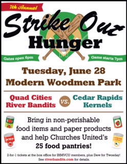 Strike Out Hunger to support local food shelves