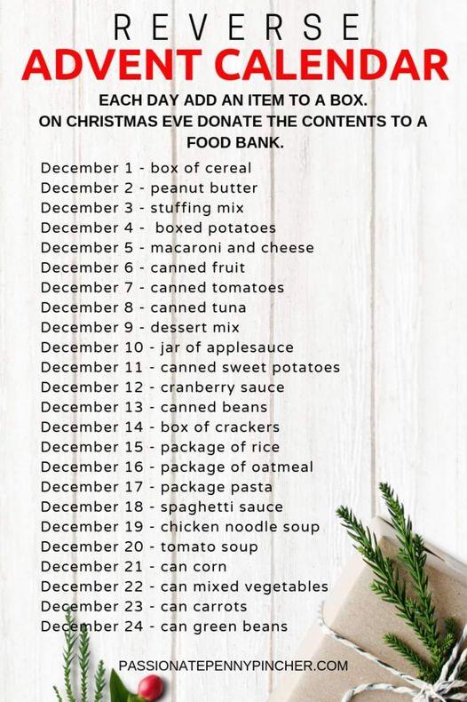 Reverse Advent Calendar Challenge